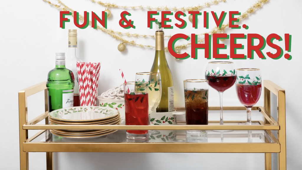 aranjarea mesei de Crăciun bar festiv